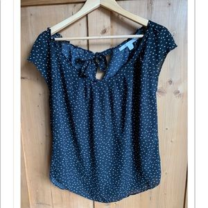 Lauren Conrad blouse navy blue